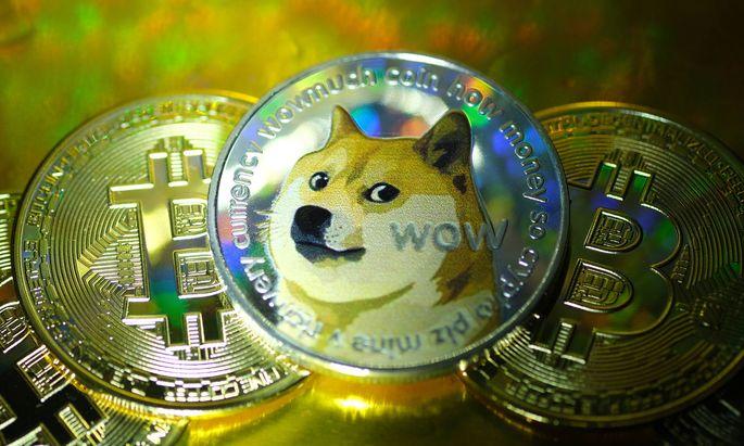 Die Spaßwährung Dogecoin hat sich binnen weniger Tage vervielfacht, auch andere Kryptowährungen steigen.