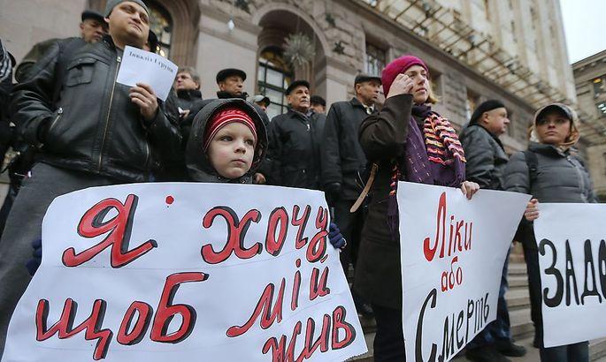 Demonstration in Kiew gegen die akuten Mängel im Gesundheitssytsem