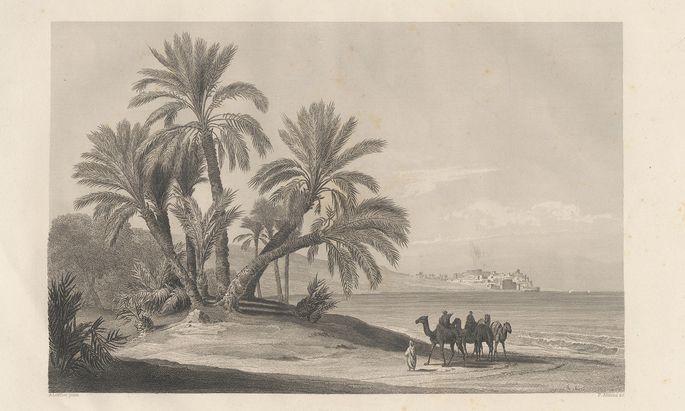 """Aus dem Buch """"Bilder aus dem Orient"""", gezeichnet von August Löffler, mit Texten von Moritz Busch (1864)."""