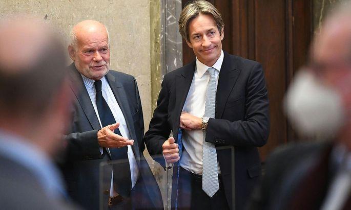 """Im Buwog-Prozess (Bild) wurde Ex-Finanzminister Karl-Heinz Grasser erstinstanzlich verurteilt. In Sachen """"Eurofighter"""" aber wurde das Verfahren gegen ihn umgehend eingestellt."""