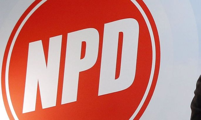 Das Logo der rechtsextremen Partei NPD.
