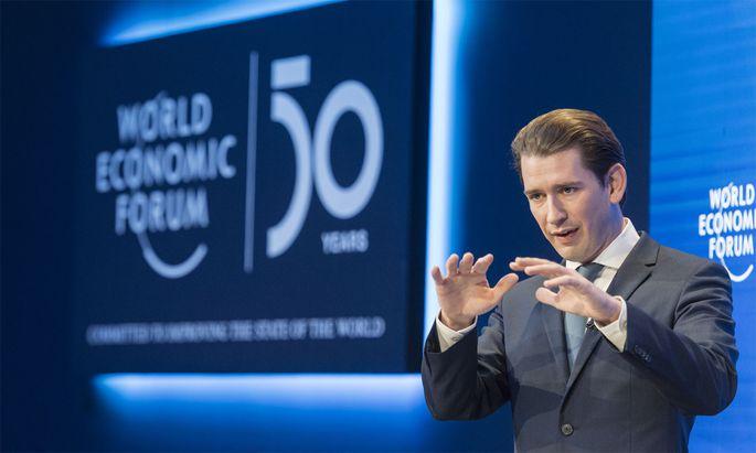 Kanzler Kurz im Jänner 2020 in Davos.