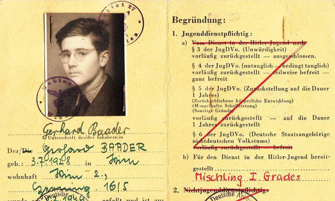 """Gerhard Baader galt als """"Mischling 1. Grades"""". Der Historikerin Michaela Raggam-Blesch hat er von seinen Erfahrungen erzählt."""