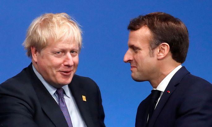 Lächelt Macron immer noch? Johnson und Macron am Donnerstag beim Nato-Gipfel in Watford.