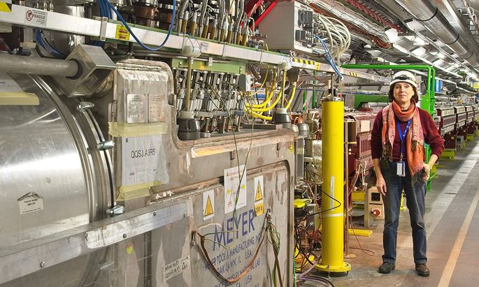 Derzeit steht die Kärntnerin nicht im LHC, sondern arbeitet aus dem Home Office per Videokonferenz und Fernsteuerung.