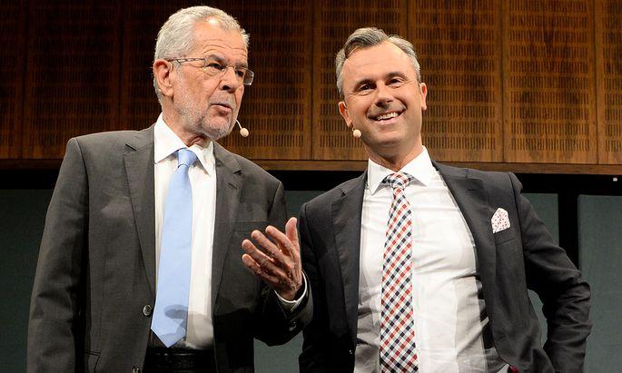 Die Hofburg-Kandidaten Alexander Van der Bellen und Norbert Hofer.