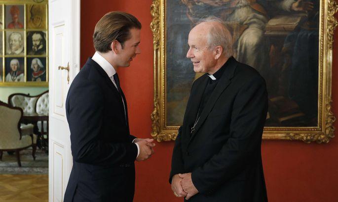 Bundeskanzler Sebastian Kurz mit Kardinal Christoph Schönborn.