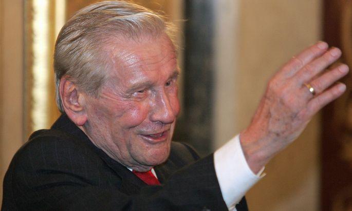 ExNationalratspraesident Rudolf Poeder gestorben