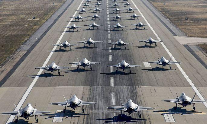 F-35 auf der Hill Air Force Base im US-Staat Utah