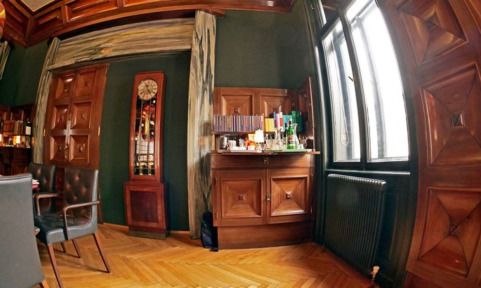 Warm, wohnlich: Loos-Interieur, Mohsgasse 2.