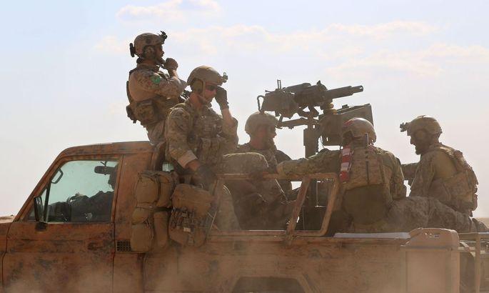 Aufnahme der US-Soldaten in Nordsyrien
