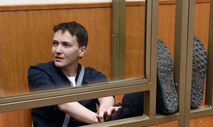Nadija Sawtschenko während der Gerichtsverhandlung