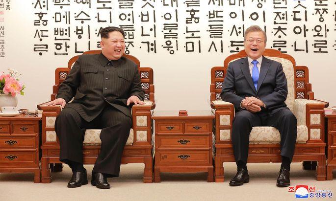 Kim Jong-un und Moon Jae-in