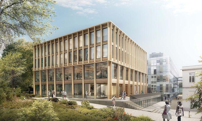 Visualisierung: Neues BOKU-Seminarzentrum in Wien.