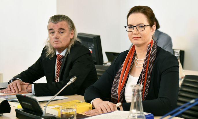 Anwalt Meinhard Novak, WKStA- Staatsanwältin Ursula Schmudermayer