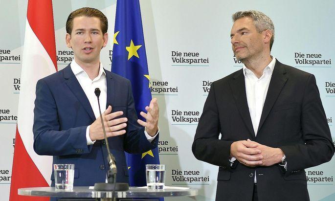 In einer Pressekonferenz am 17. Juni machte Parteichef Sebastian Kurz die Causa öffentlich.