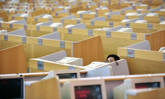 Die Börse in Shanghai. Chinas Kapitalmarkt freut sich über viele IPOs.