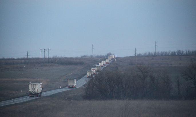 OSZE-Beobachter sollten unter anderem untersuchen, was in russischen Konvois über die Grenze transportiert wird.