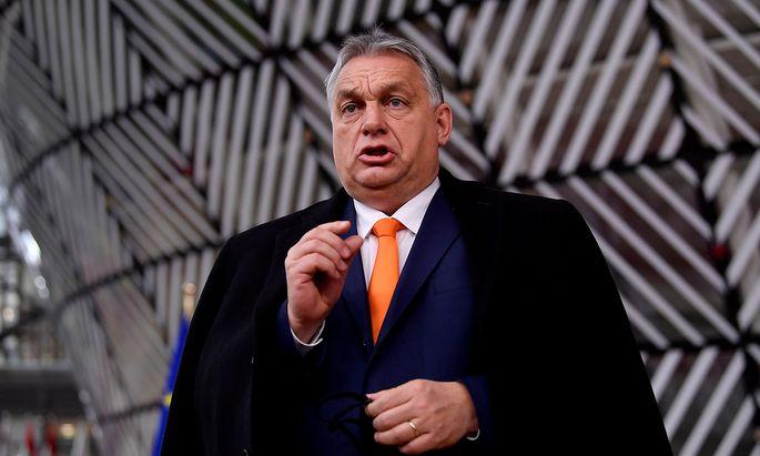 Archivbild von Ungarns Premier Viktor Orbán beim EU-Gipfel in Brüssel im Dezember 2020.