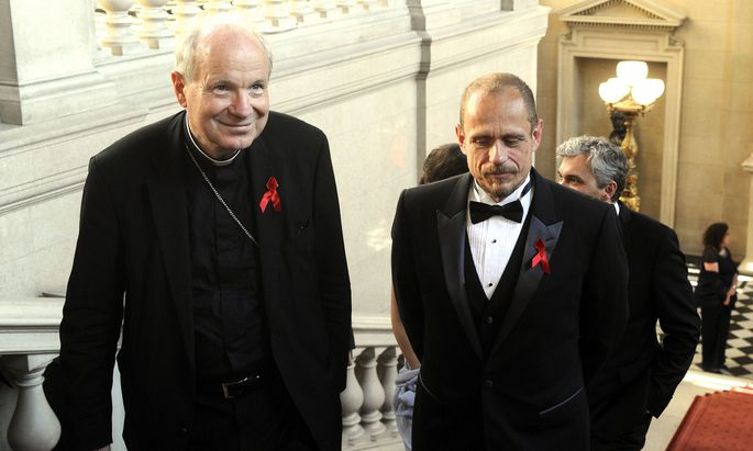 Kardinal Christoph Schönborn und Gery Keszler