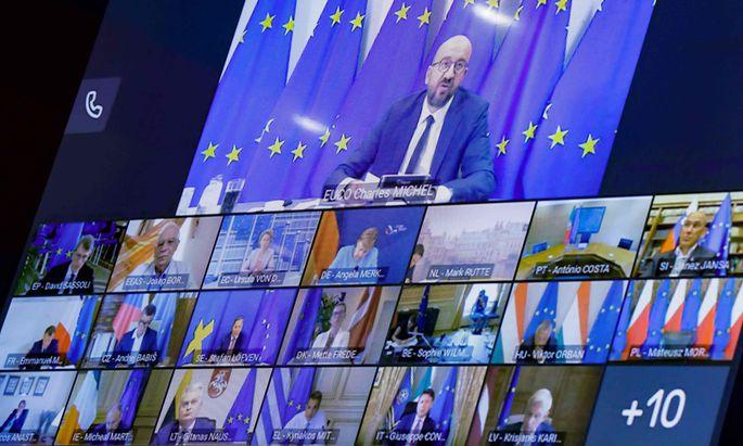 It's a Video Life: Die Staats- und Regierungschefs tagen nun wieder im Format der Videokonferenz.