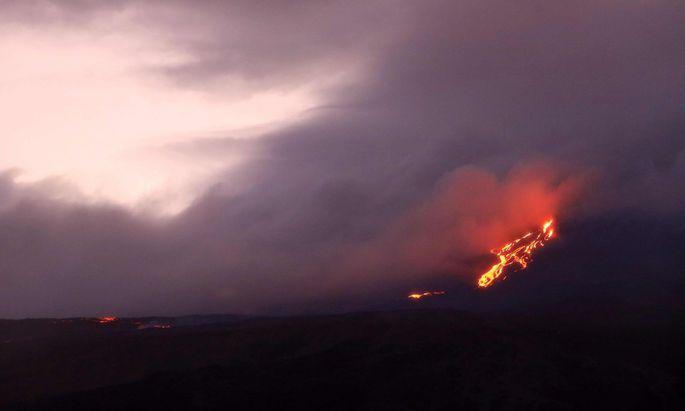 Symbolbild: Vulkanausbruch.