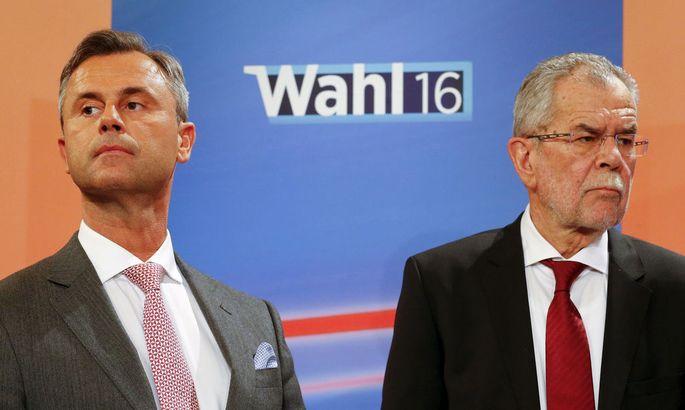Norbert Hofer (FPÖ) mit Alexander Van der Bellen