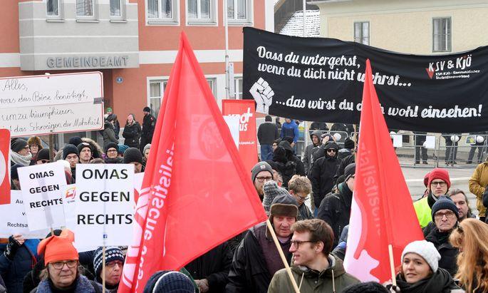 Proteste in Aistersheim