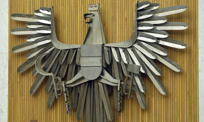 Adler im Plenarsaal des Nationalrates