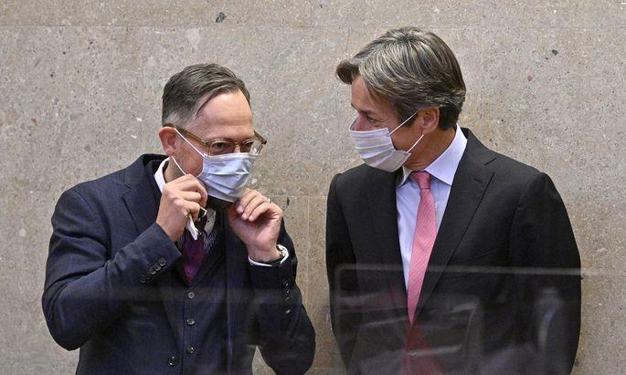 Anwalt Norbert Wess, Angeklagter Karl-Heinz Grasser