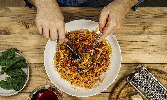 Spaghetti bolognese kennt der Italiener nur als ausländische Misshandlung seiner Küche.