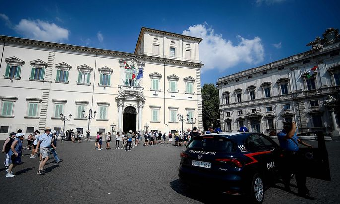 Der Quirinalspalast in Rom ist Amtssitz des italienischen Präsidenten, Sergio Mattarella.
