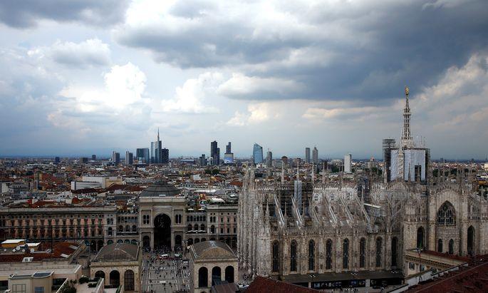 Dunkle Wolken über dem Finanzplatz Mailand: Vor allem Bankaktien brachen ein.