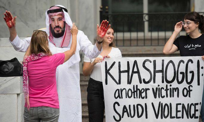 Protest gegen Mohammed bin Salman.