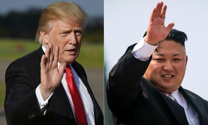 Donald Trump und Kim Jong-un haben sich in den letzten Monaten mehrere Drohungen und Beleidigungen an den Kopf geworfen.