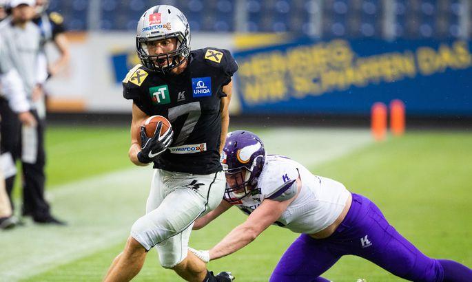 Sandro Platzgummer, hier für die Raiders im Einsatz, nimmt Anlauf auf die NFL.