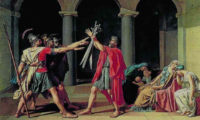 Der Schwur der Horatier J.-L. David, 1784 - Louvre