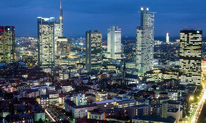 Deutschland, Frankfurt, Nachtaufnahme / Germany, Frankfurt, by night
