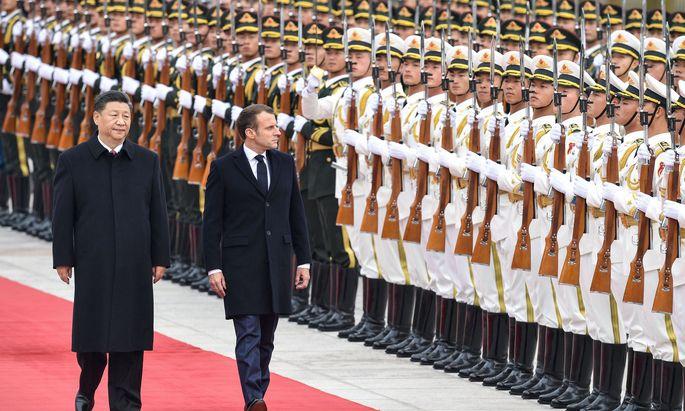 Frankreichs Präsident Emmanuel Macron auf Staatsbesuch in China