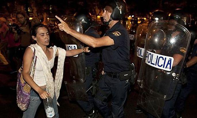 Madrid Mindestens Verletzte Protesten