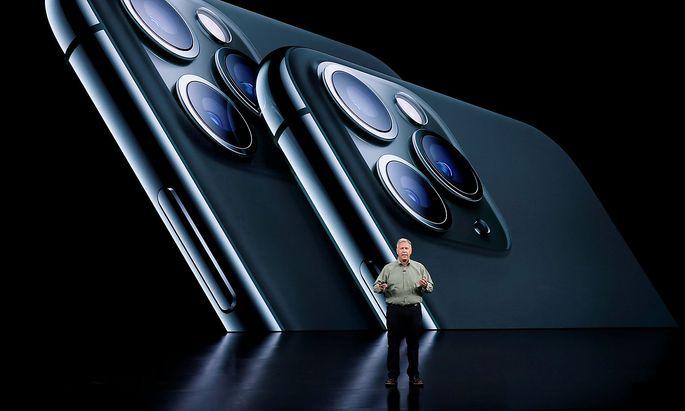 Phil Schiller bei der Präsentation des iPhone 11 pro im Apple-Firmensitz in Cupertino.