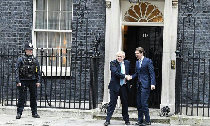 Kanzler Kurz besuchte Premier Johnson am Dienstag in London.