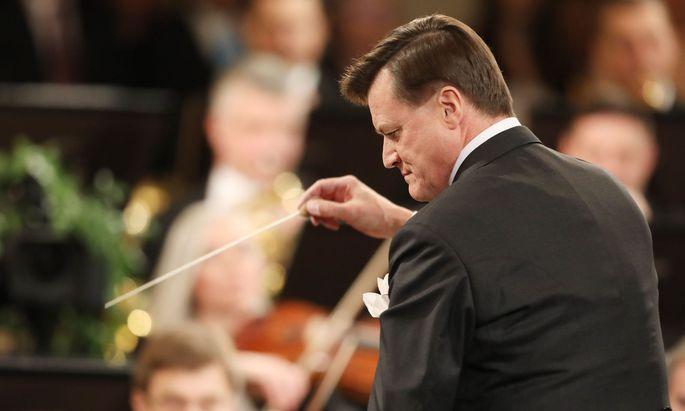 Die Wiener Staatsoper und die Philharmoniker sieht Thielemann derzeit als Vorbild: Hier als ihr Dirigent beim Neujahrskonzert 2019.ujahrskonzert 2019