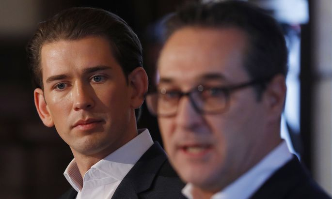 ÖVP-Chef Sebastian Kurz und FPÖ-Obmann Heinz-Christian Strache.