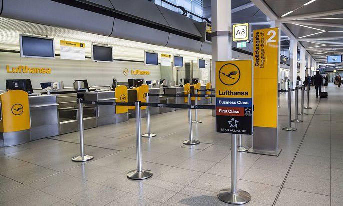 Lufthansa Check in ohne Betrieb Lufthansa Check in ohne Betrieb