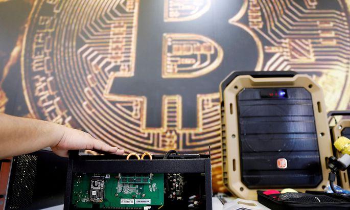Auf Computern wie diesen können Private nach Bitcoins schürfen.