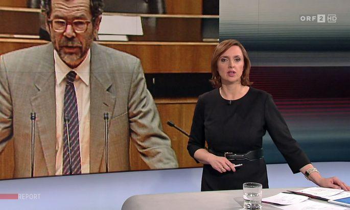 """Van der Bellen sah man am Dienstag in jüngerer und älterer Ausgabe im """"Report""""."""