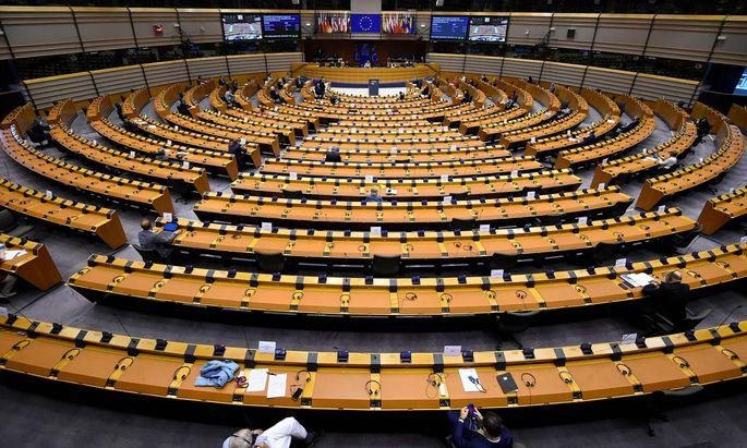 Das Europaparlament.