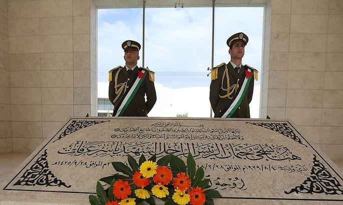 Noch ruht er nicht in Frieden: Das Grab Jassir Arafats in Ramallah