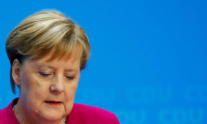 Merkel trat am frühen Montagnachmittag vor die Medien.